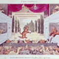 'Animals in the Theatre'. Image taken from The Tyger's Theatre by Samuel Arnold. Illustration by Spencer Molan. 1808. © British Library Board