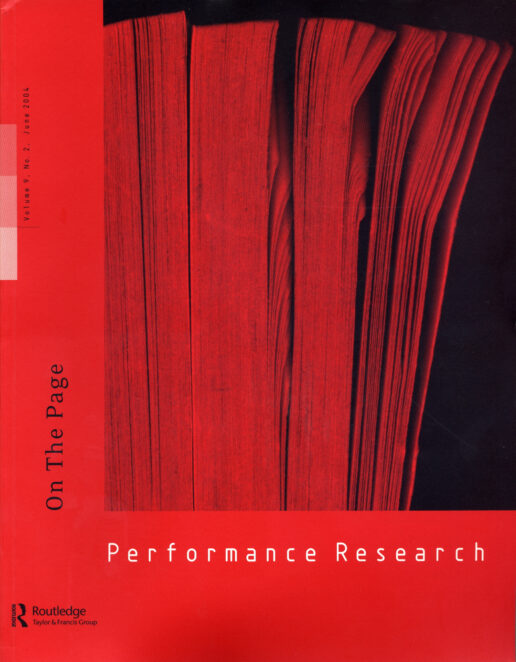 Performance Research 9.1